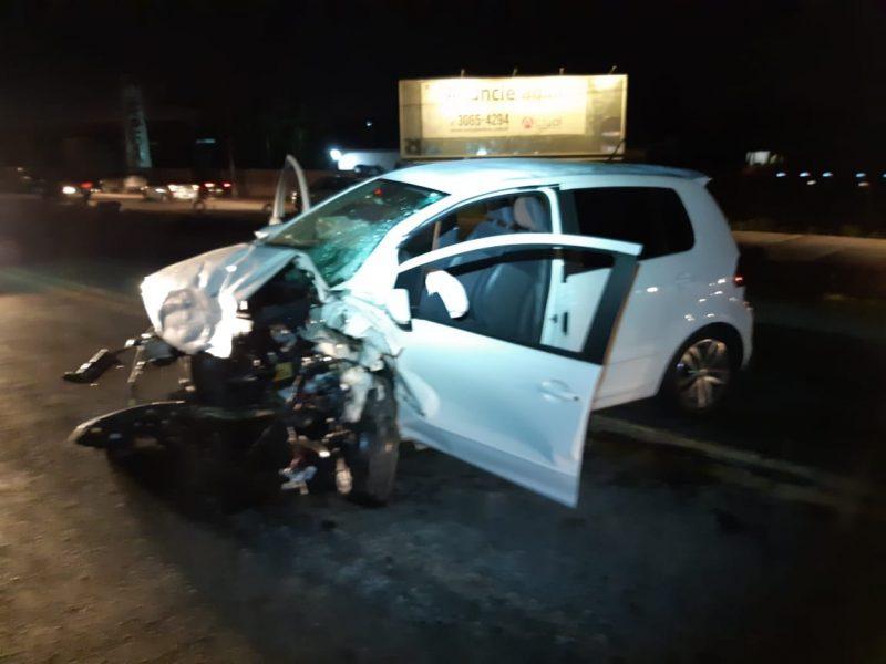 Condutor do Fox estava embriagado e, segundo a PRF, causou o acidente – Bombeiros Voluntários de Navegantes/Divulgação/ND