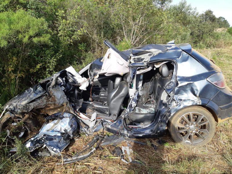 Acidente ocorreu por volta das 8h desta quinta-feira – PRF/Divulgação