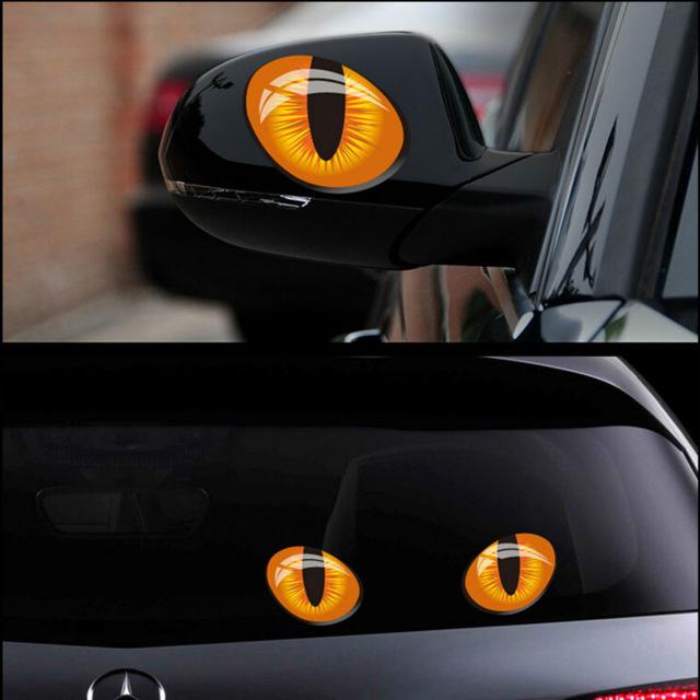Este outro adesivo simula os olhos de um felino e também entra na lista - Foto: Reprodução/AliExpress - Foto: Reprodução/AliExpress/Garagem 360/ND