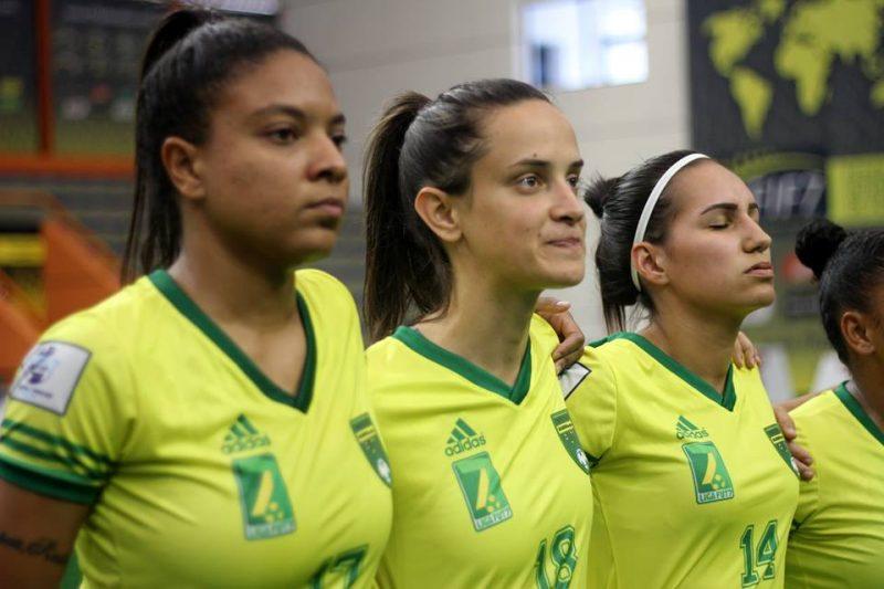 Jogadoras vão disputar a Copa do Mundo de Futebol 7 na Itália – Karyna Prado/FIF7/Figueirense F.C./Divulgação/ND