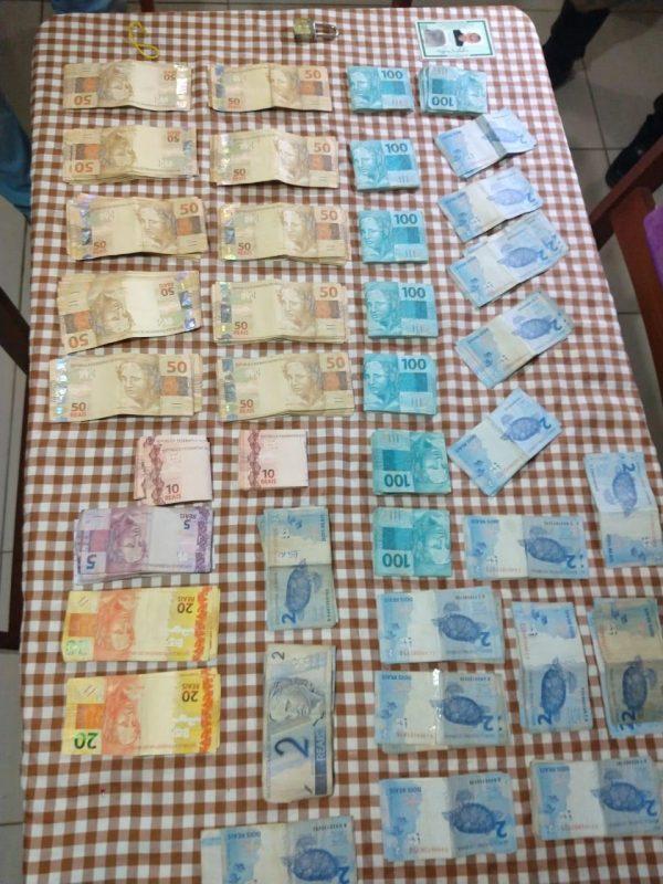 Suspeito teria forjado assalto para ficar com o dinheiro – Polícia Militar / Divulgação