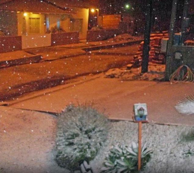 Fenômeno de 2013 atingiu até a cidade de Mafra, no Norte de Santa Catarina - Carla Regina/Arquivo Pessoal