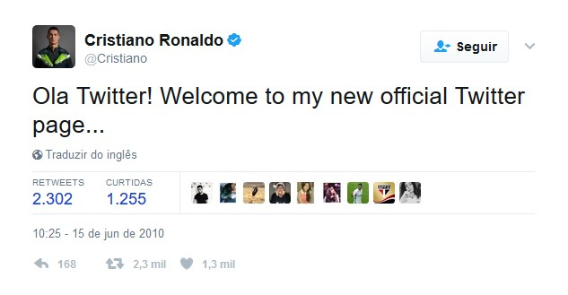 Cristiano Ronaldo – 15 de junho de 2010: