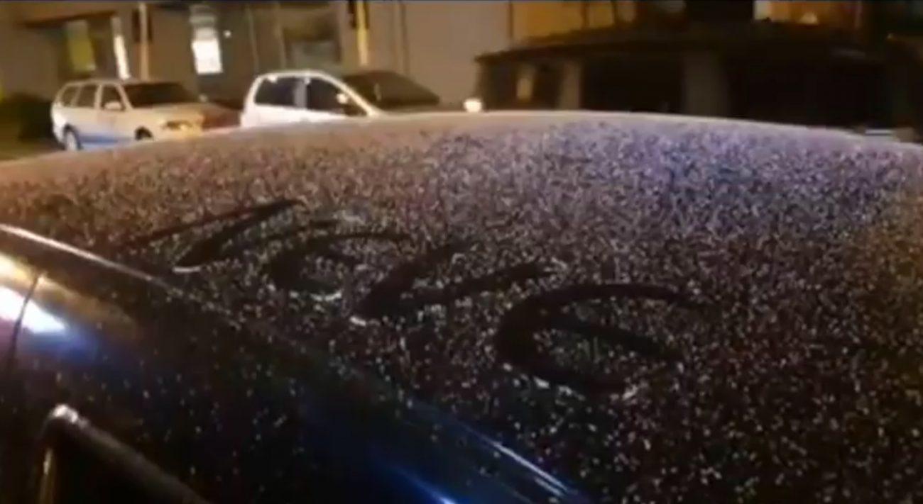 São Joaquim registrou neve mais uma vez neste final de semana - São Joaquim Online/Reprodução/RICTV