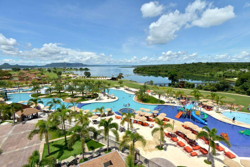 O Resort Malai Manso, em Mato Grosso, tem muitas atrativos, mas a piscina é uma atração à parte - Divulgação - Divulgação/Rota de Férias/ND
