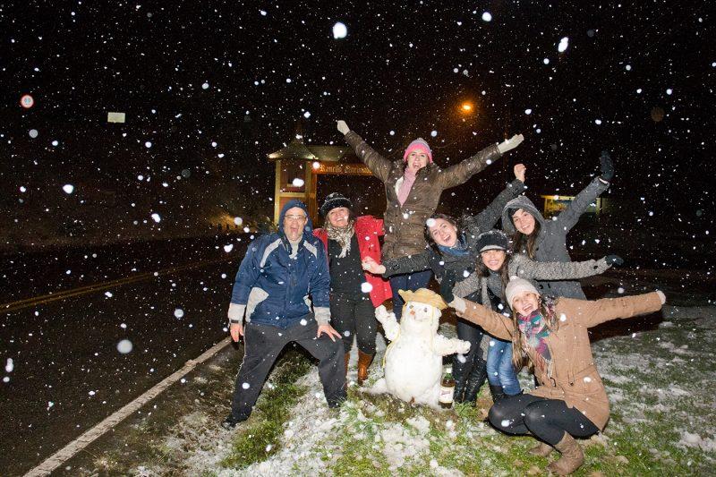 Rancho Queimado foi um dos municípios onde mais nevou na ocasião atingindo -3,2°C – Foto: Piero Ragazzi/Arquivo/ND