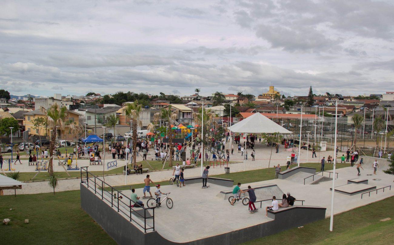 O bairro Serraria ganhou o Parque do Araucária, com investimento de R$ 1,23 milhão - Divulgação Prefeitura de São José