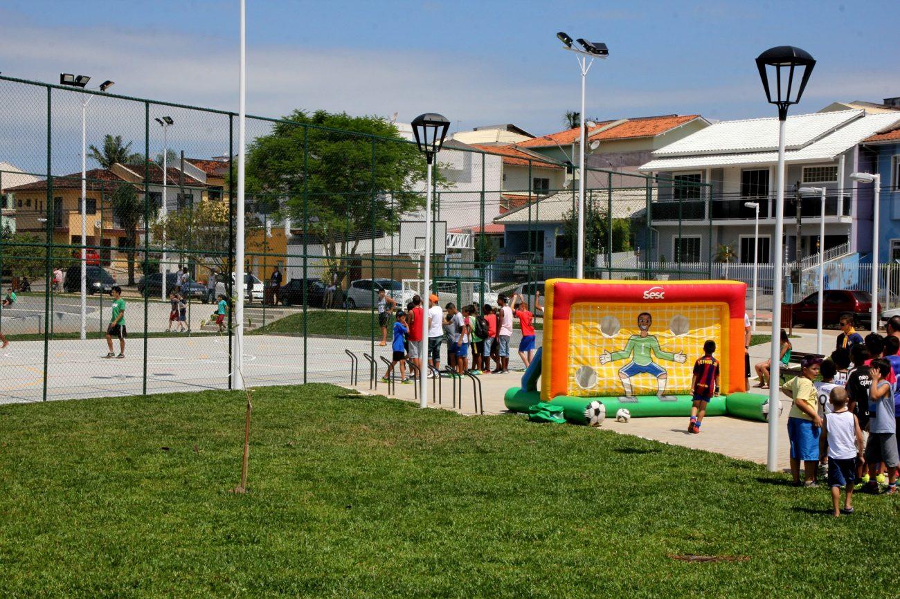 O Lisboa também recebeu uma nova área de lazer com toda a estrutura para atender a comunidade - Divulgação Prefeitura de São José