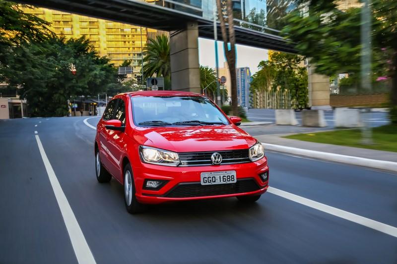 Volkswagen Gol: assim como o Up, tem 82 cv de potência e 10,4 kgf.m de torque quando abastecido com etanol - Foto: Divulgação - Foto: Divulgação/Garagem 360/ND