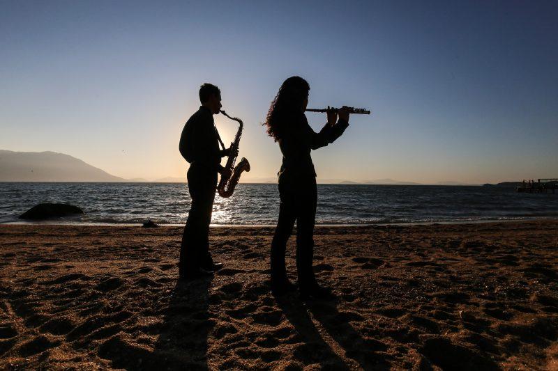Ensinar aos mais jovens garante a renovação da Banda da Lapa - Anderson Coelho/ND