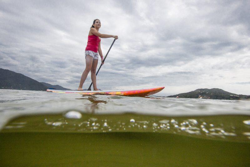 Marjory Lopes de stand up na Lagoa da Conceição - Photographer: Rodolfo Guimaraes/ND