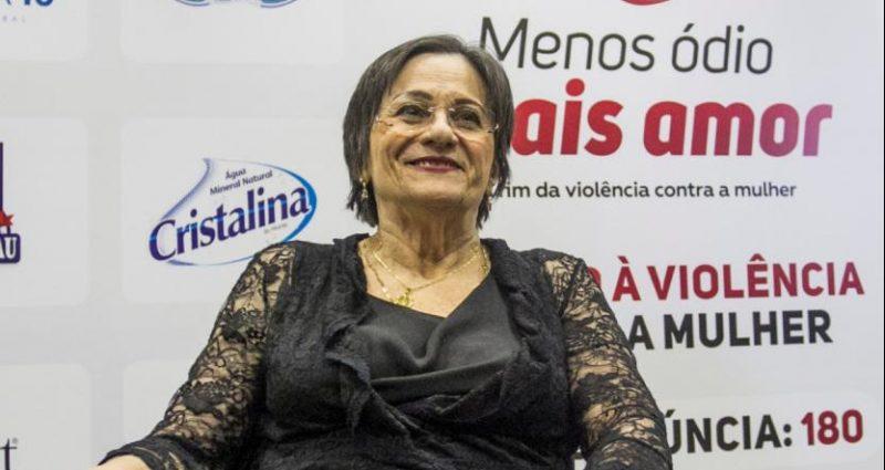 Na imagem, Maria da Penha em visita à Florianópolis no ano de 2019 – Foto: Marco Santiago/Arquivo/ND