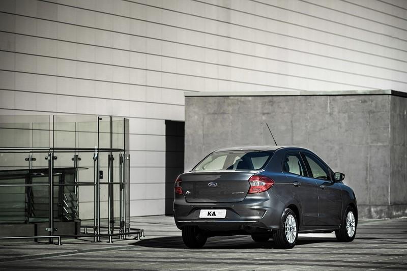 Ford Ka Sedan: a versão 1.0 do modelo é equipada com o propulsor de três cilindros com 85 cv de potência - Foto: Divulgação - Foto: Divulgação /Garagem 360/ND