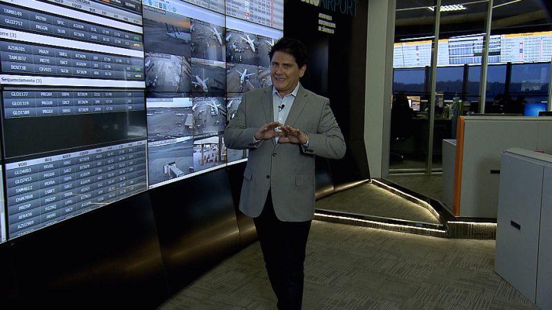 César Filho apresenta série sobre histórias dos bastidores no Aeroporto Internacional de São Paulo – Divulgação/Record TV/ND