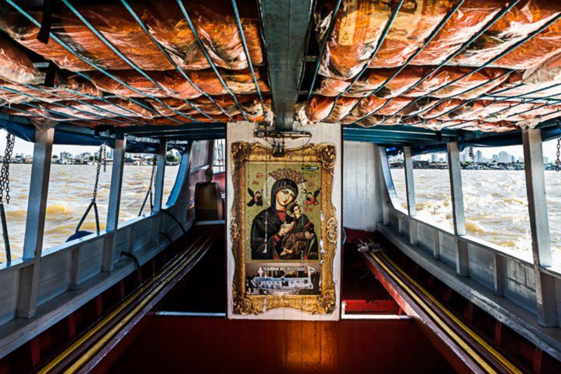Barco de Ribeirinho (morador da região das ilhas) em Belém, Pará - Anderson Coelho/ND