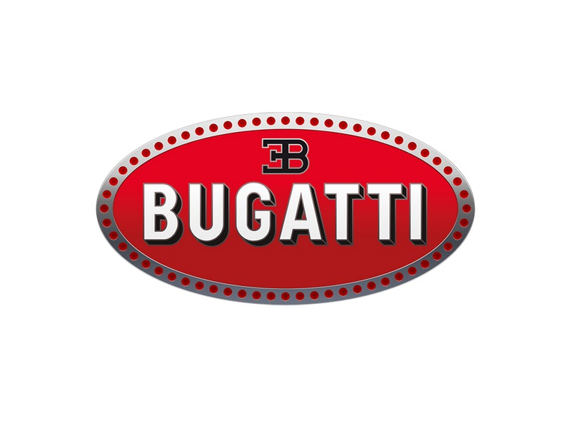 Todo o logotipo da Bugatti foi pensado para representar o poder e a excelência. Os 60 pontos da borda representam pérolas, enquanto que o símbolo preto é formado pelas iniciais do fundador da marca, Ettore Bugatti - Foto: Divulgação - Foto: Divulgação/Garagem 360/ND
