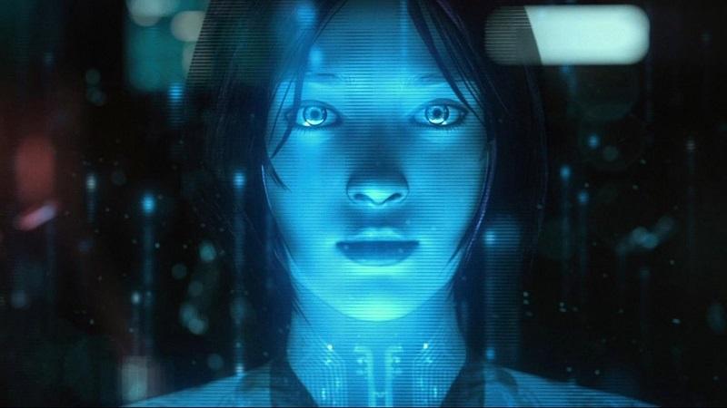 """Cortana, """"Halo"""" – A inteligência artificial da Microsoft nasceu primeiramente no jogo de tiro em primeira pessoa. Presente desde o primeiro título da franquia exclusiva para o Xbox, a personagem ganhou """"vida"""" a partir de um clone do cérebro humano e é a fiel companheira do soldado Master Chief. Agora, o holograma virtual também está presente nos computadores da companhia. - Crédito: Reprodução/YouTube/33Giga/ND"""