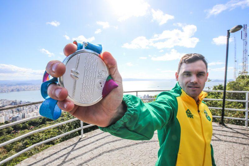 Douglas conquistou sua 4ª medalha em Jogos Pan-Americanos em Lima – Anderson Coelho/ND
