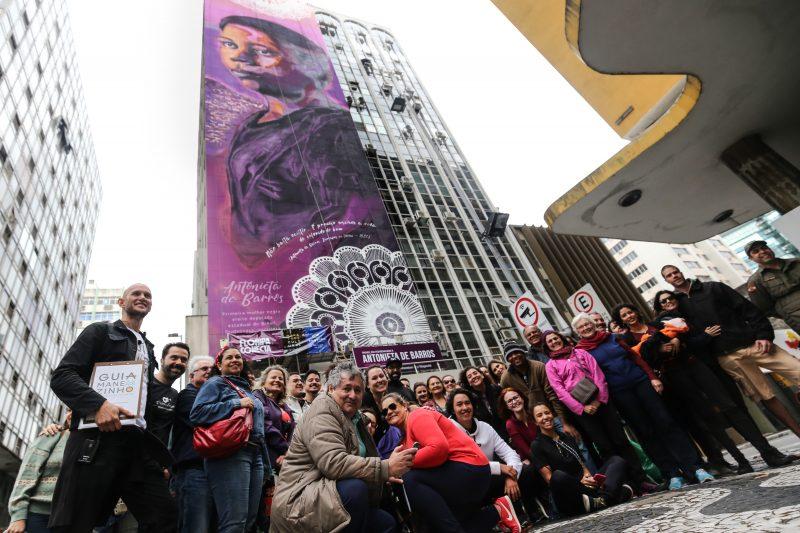 A inauguração do mural fez parte da programação da 15º Maratona Cultural, que durante três dias movimento a cidade com exposições, shows e apresentações culturais. – Anderson Coelho/ND