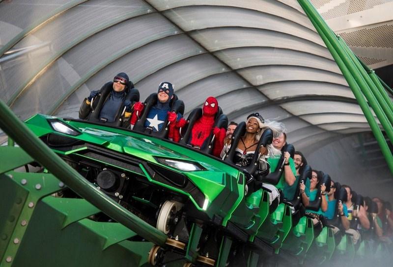 Atrações mais divertidas do Universal Islands of Adventure - Se você gosta de velocidade, não deixe de dar uma volta na montanha-russa Incredible Hulk Coaster. A atração é uma das queridinhas do público graças à arrancada inicial, que alcança uma velocidade de 108 km/h - Divulgação - Divulgação/Rota de Férias/ND