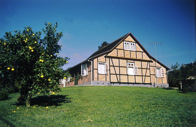 Pomerode é o município que mais tem casas em estilo enxaimel fora da Alemanha – Santur/Divulgação/ND