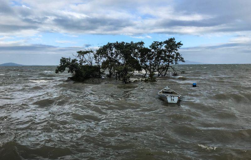 Período de maré alta em São José, Grande Florianópolis - Anderson Coelho/ND