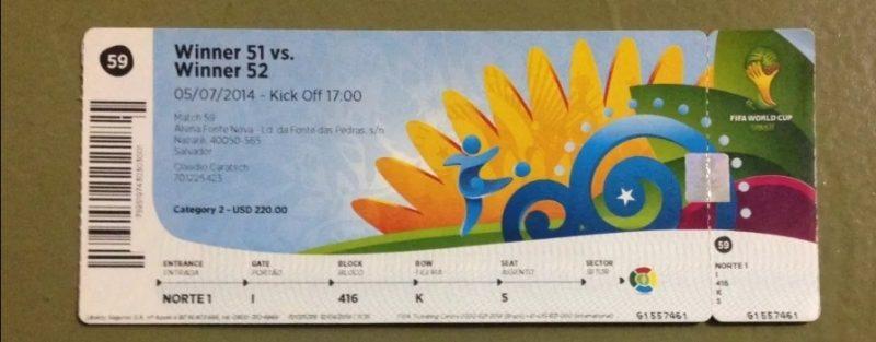 O preço de um ingresso intermediário na final da Copa do Mundo 2014, no Maracanã, era de R$ 880. Com o valor do Fundo Eleitoral seria possível comprar mais de 4 milhões de ingressos - Reprodução/ND