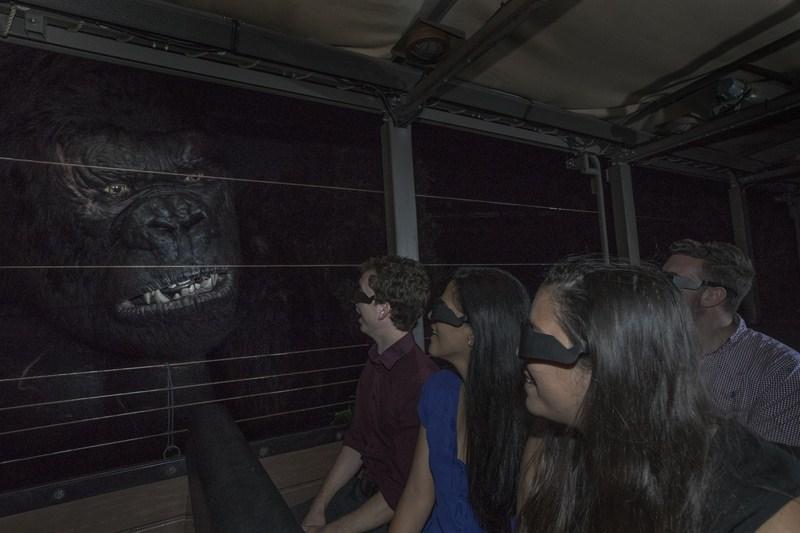 Inaugurada em 2016, o Skull Island: Reign of Kong coloca os visitantes em um ambiente selvagem cheio de criaturas desconhecidas. Entre elas, o famoso gorila gigante King Kong, que tem um tamanho aproximado ao de um prédio de três andares - Divulgação - Divulgação/Rota de Férias/ND