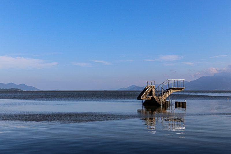 Trapiche na Praia da Saudade, Coqueiros, em Florianópolis - Anderson Coelho/ND