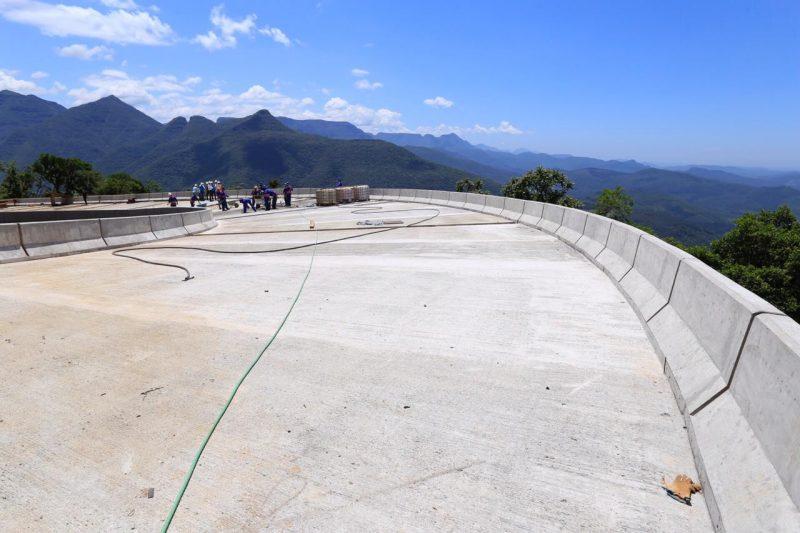 Obras na Serra da Rocinha, na BR-285, começaram há cinco anos – Foto: Divulgação/ND
