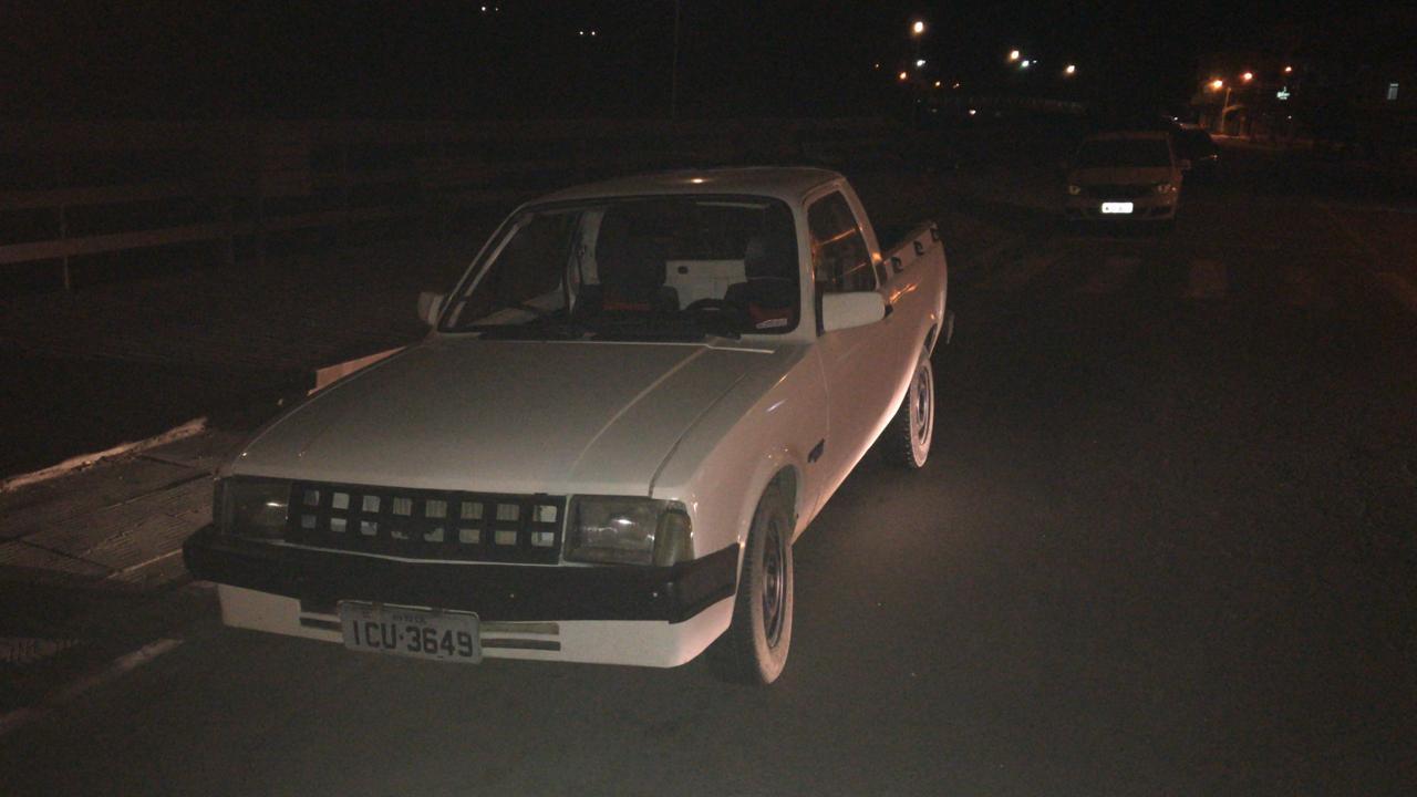 Carro do suspeito de cometer o triplo homicídio em Alfredo Wágner - Anderson Coelho/ND
