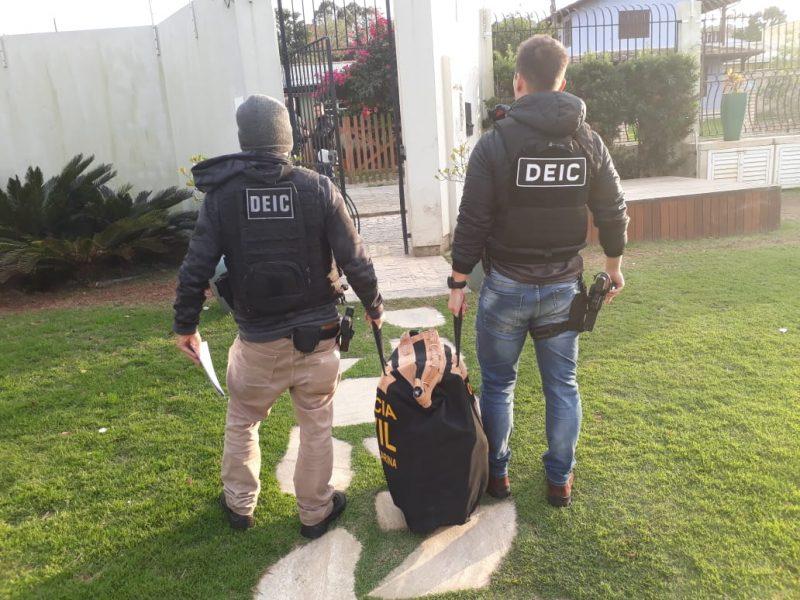 Operação Curto Circuito foi deflagrada na manhã desta sexta-feira em diversos municípios de Santa Catarina, incluindo Florianópolis – Polícia Civil/Divulgação/ND