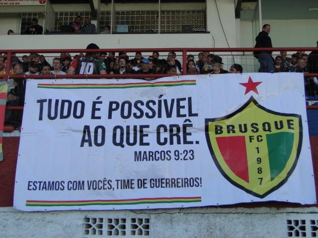 O domingo (4) ainda marca os 159 anos do município de Brusque que, abraçado ao clube da cidade, quer ter mais motivos para comemorar. - Diogo de Souza/ND