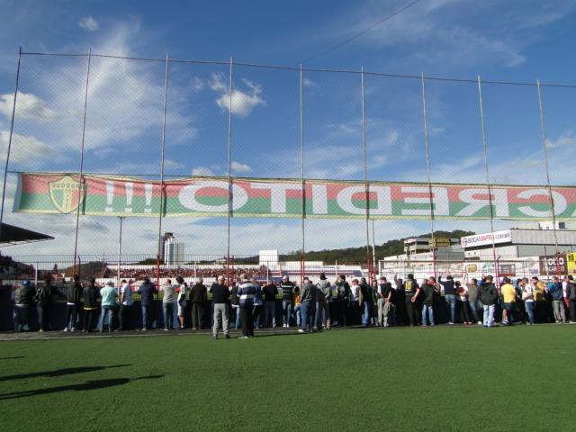 Expectativa no estádio Augusto Bauer pouco antes do início do jogo! - Diogo de Souza/ND