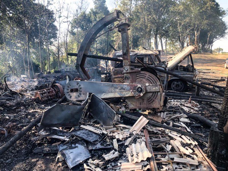 Incêndio teria começado em uma das casas – Willian Ricardo/ND