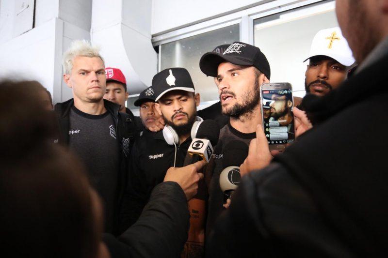 """Em pronunciamento do volante e capitão Zé Antônio, a posição dos atletas está """"mantida"""". A equipe tem compromisso já no sábado, às 19h, contra o CRB, no estádio Orlando Scarpelli - Anderson Coelho/ND"""