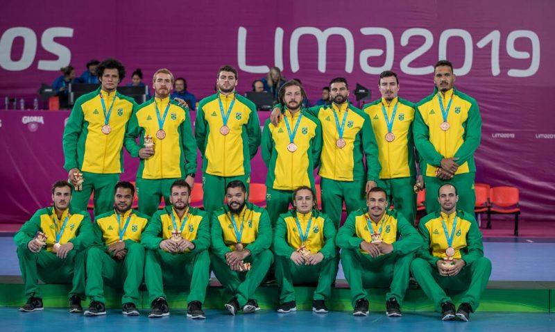 Em participação frustrante no Pan, Brasil ficou com a medalha de bronze e se complicou na corrida por uma vaga nas Olimpíadas – Divulgação/ND