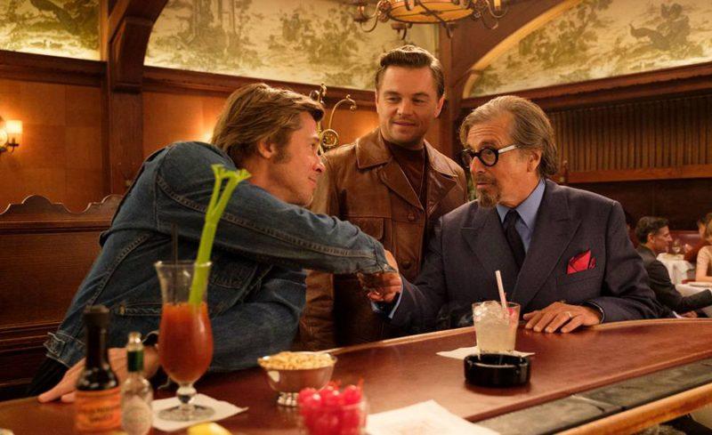 """Leonardo DiCaprio, Brad Pitt e Al Pacino, em cena em """"Era uma Vez em… Hollywood"""" – Divulgação/ND"""