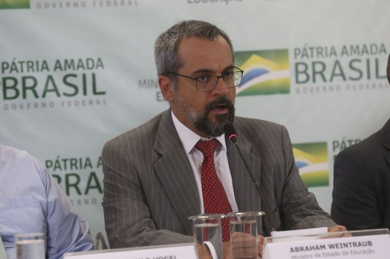 O ministro da Educação, Abraham Weintraub, participou da reunião ministerial de 22 de abril – Foto: Antonio Cruz/ Agência Brasil/ND