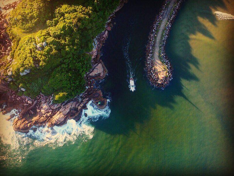 Braço do Mar na Barra da Lagoa, em Florianópolis - Flávio Tin/ND