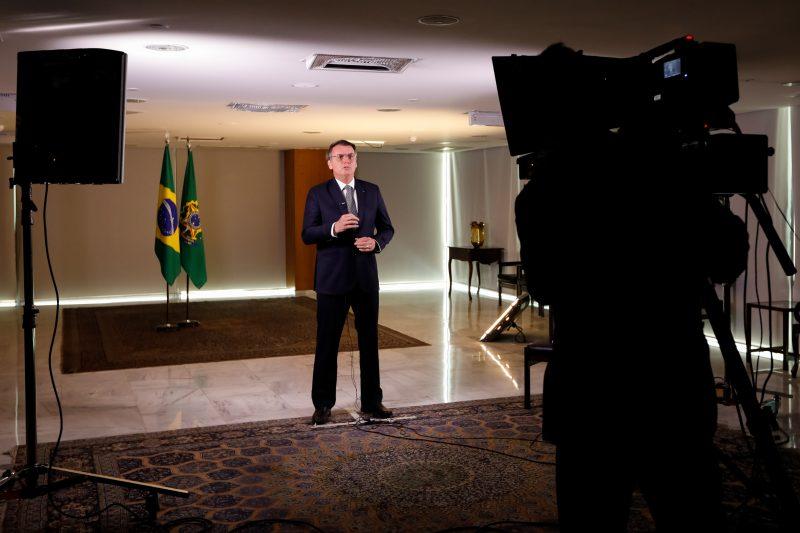 Pronunciamento do Presidente da República, Jair Bolsonaro – Foto: Carolina Antunes/PR
