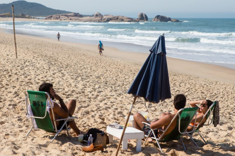 Praia Mole em dia de veranico - Flavio Tin/ND