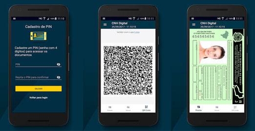 """Aplicativo """"Carteira Digital de Trânsito"""" que permite o uso da CNH-e – Reprodução Gorverno Federal"""