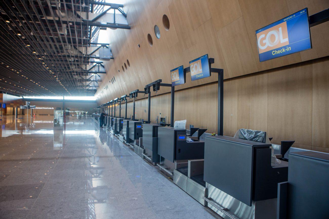 Área de check-in das companhias aéreas - Flavio Tin/ND