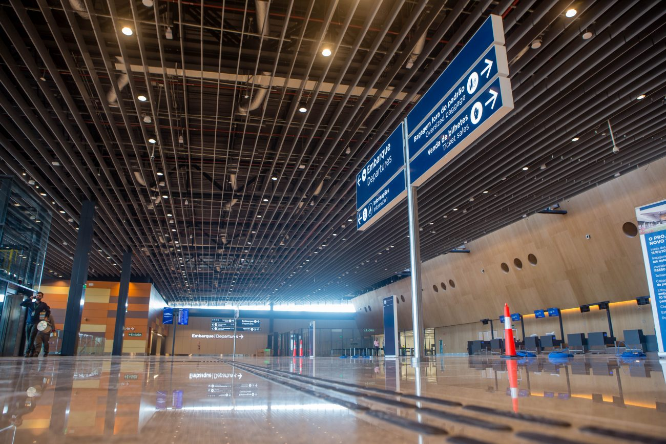 Visão geral do saguão do novo terminal - Flavio Tin/ND