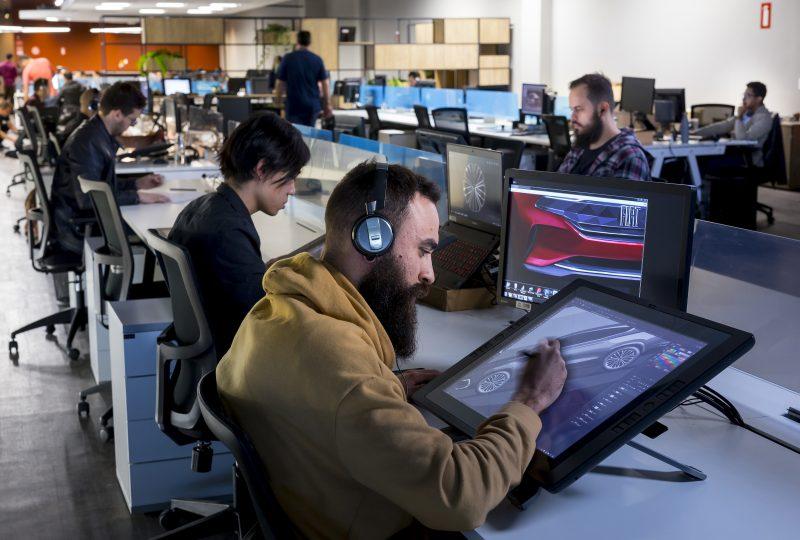 Trabalham cerca de 150 profissionais no laboratório de UX, na sala virtual, no showroom e no espaço Integrated do Design Center