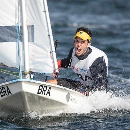 Essa foi a segunda medalha de ouro em Jogos Pan-Americanos de Matheus Dellagnelo – Jonne Roriz/COB