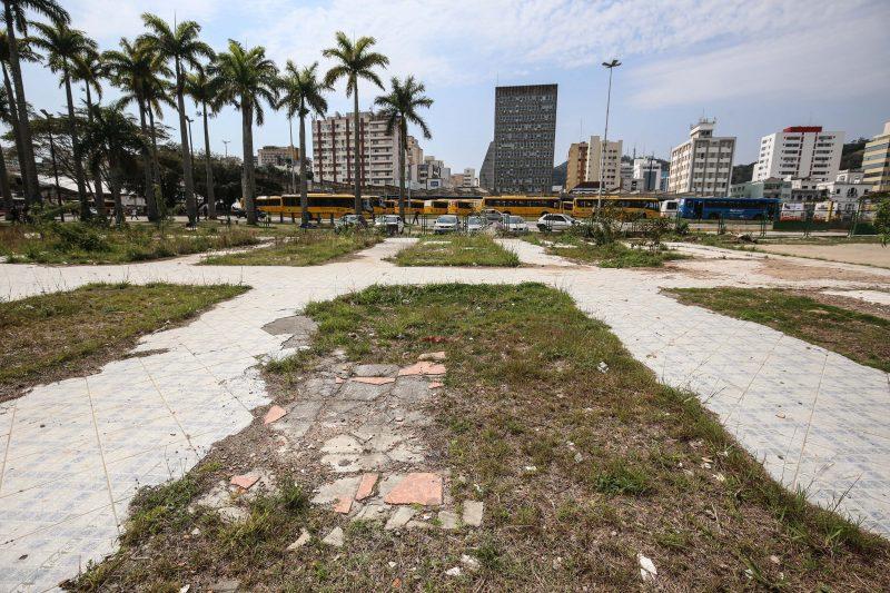 Aterro da Baía Sul revela sinais de abandono. Foto: Anderson Coelho/ND
