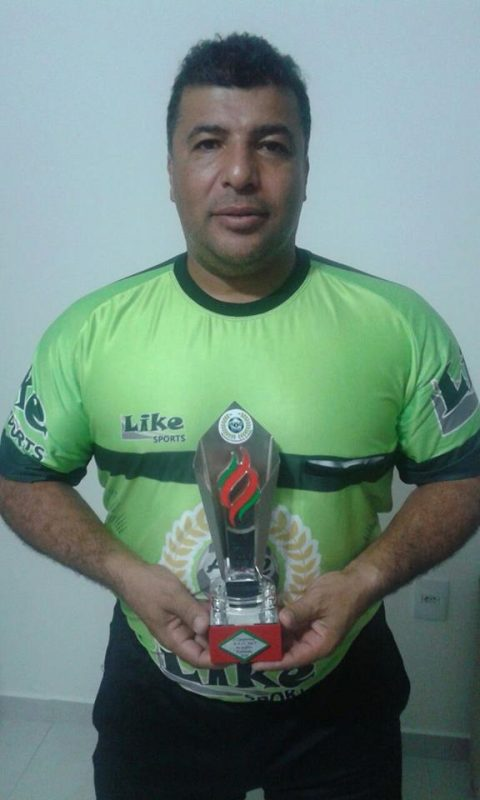 Fernando Cunha, um dos principais árbitros de Fut 7 do estado. Atuando na 8ª Copa Anasc – Fernando Cunha/acervo familiar