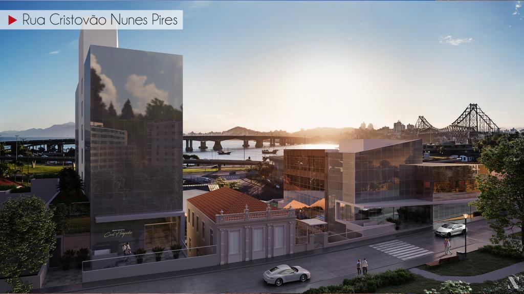 São quatro torres, duas maiores e duas menores, com 20 mil metros quadrados - Hoepcke/Divulgação/ND